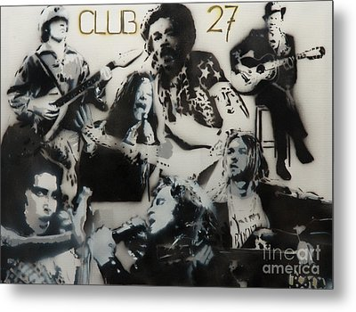 Club 27 Metal Print by Barry Boom