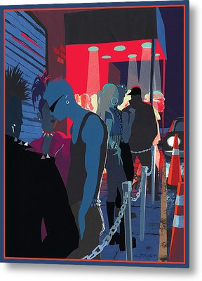 Club Kids Metal Print by Clifford Faust