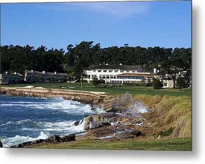 Clubhouse At Pebble Beach Metal Print by Barbara Snyder