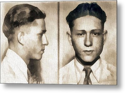 Clyde Barrow Mug Shot Metal Print by Dan Sproul