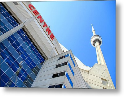 Cn Tower And Rogers Centre Metal Print by Valentino Visentini
