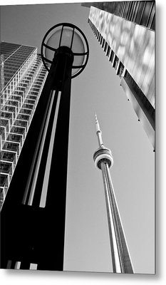 Cn Tower Surrounded Metal Print by Arkady Kunysz