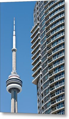 Metal Print featuring the photograph Cn Tower Toronto Ontario by Marek Poplawski