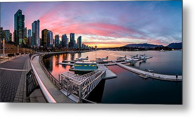 Coal Harbour Sunset Metal Print by Alexis Birkill