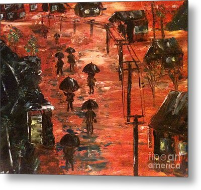 Coal Miners Cove  Metal Print by Denise Tomasura