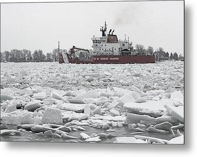 Coast Guard Cutter And Ice 6 Metal Print