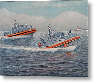 Coast Guard Lri And Rb-m Metal Print by William H RaVell III