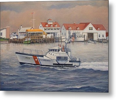 Coast Guard Station Metal Print by William H RaVell III