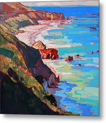 Coast Line Metal Print by Erin Hanson