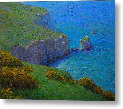 Coast Tunnel Beach Metal Print