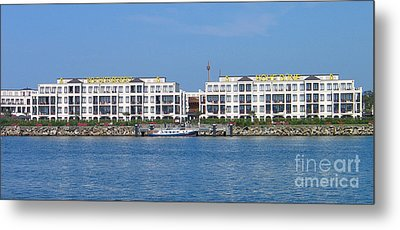 Metal Print featuring the photograph Coast Warnemuende Germany by Art Photography