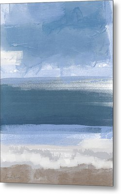 Coastal- Abstract Landscape Painting Metal Print