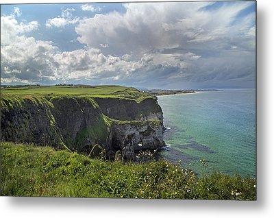 Coastal Cliffs Antrim Ireland Metal Print