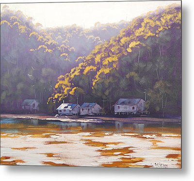 Coastal Creek Metal Print