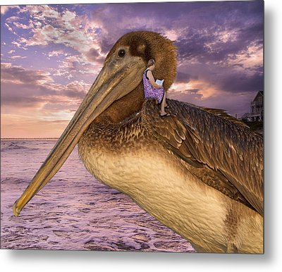 Coastal Fairytales Metal Print by Betsy Knapp