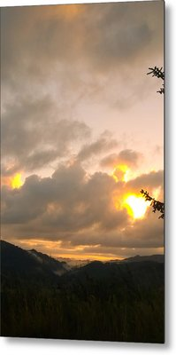 Coastal Mountain Sunrise Metal Print