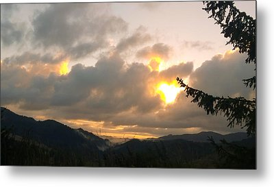 Coastal Mountain Sunrise II Metal Print