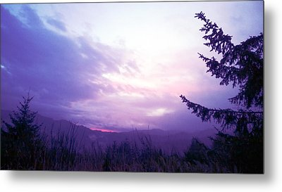 Coastal Mountain Sunrise Iv Metal Print