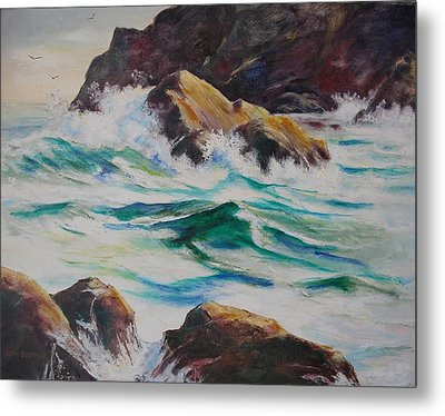 Coastal Rocks Metal Print by John  Svenson