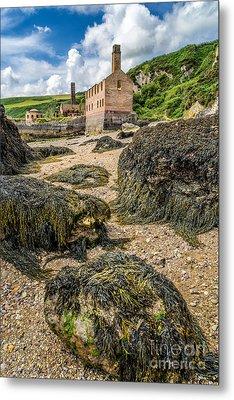 Coastal Ruins Metal Print