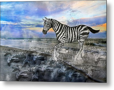 Coastal Stripes I Metal Print by Betsy Knapp