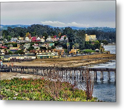 California Coastal Town Metal Print