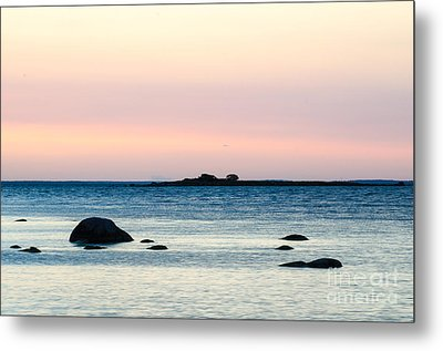 Coastal Twilight View Metal Print