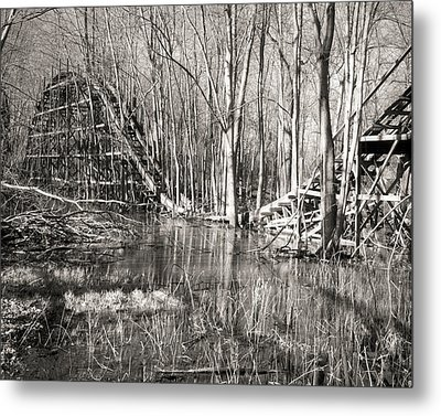 Coaster Reflections Metal Print by William Beuther
