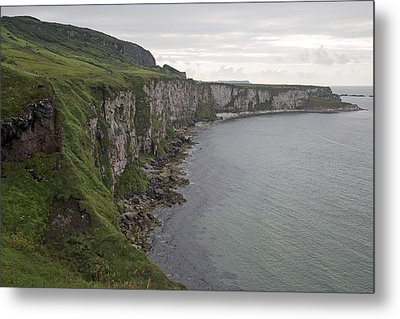 Coastline Carrick-a-rede Northern Ireland Metal Print
