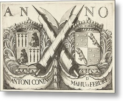 Coat Of Arms Of Antoni Coning Mayor Of Haarlem And Mahu Le Metal Print
