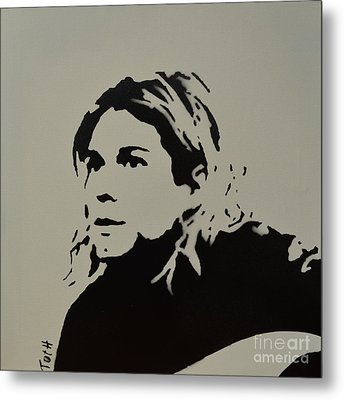 Cobain Spray Art Metal Print