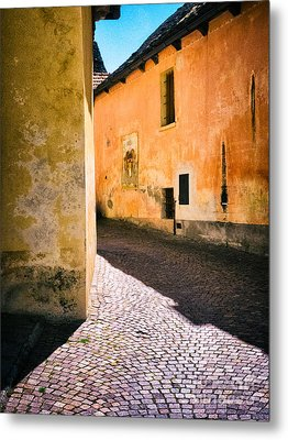 Metal Print featuring the photograph Cobbled Street by Silvia Ganora