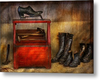 Cobbler - Life Of The Cobbler Metal Print by Mike Savad