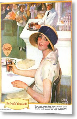 Coca-cola 1920s Usa Metal Print by The Advertising Archives