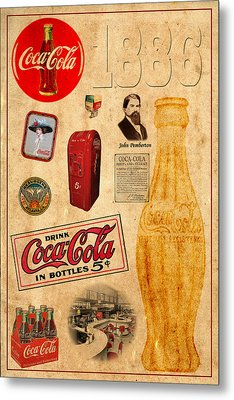 Coca Cola Metal Print by Andrew Fare