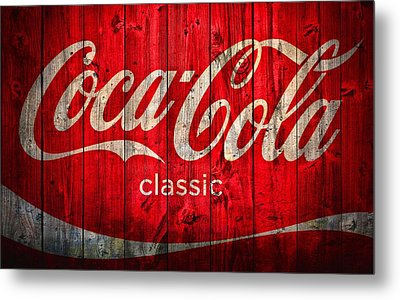 Coca Cola Barn Metal Print