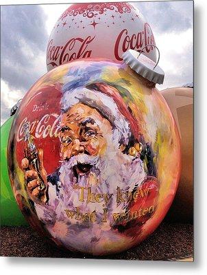 Coca Cola Christmas Bulbs Metal Print by Dan Sproul
