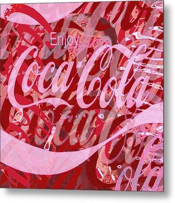 Coca-cola Collage Metal Print by Tony Rubino