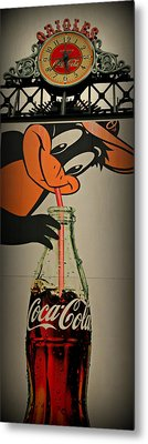 Coca Cola Orioles Sign Metal Print