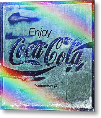 Coca Cola Rainbow Metal Print by John Stephens