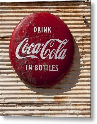 Coca Cola Sign   #0636 Metal Print by J L Woody Wooden