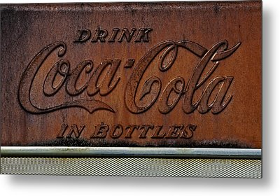Metal Print featuring the photograph Coca-cola Sign by Andy Crawford