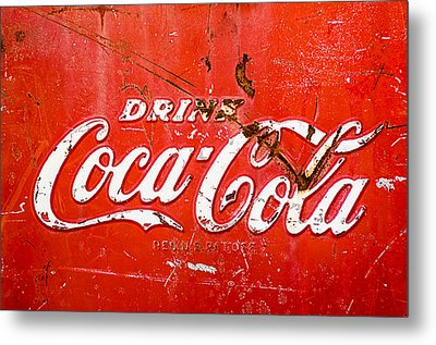 Coca-cola Sign Metal Print by Jill Reger