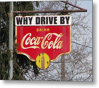 Coca-cola Sign Metal Print