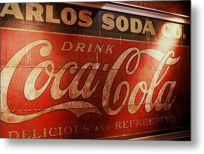 Metal Print featuring the photograph Coca Cola Sign by Rodney Lee Williams