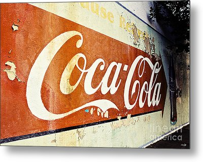 Coca Cola Sign  Metal Print by Scott Pellegrin