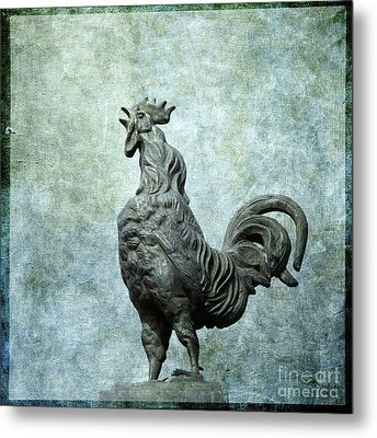 Cock Metal Print by Bernard Jaubert