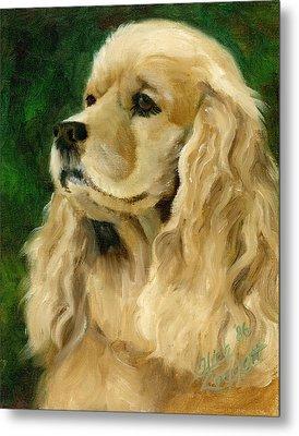 Cocker Spaniel Dog Metal Print by Alice Leggett
