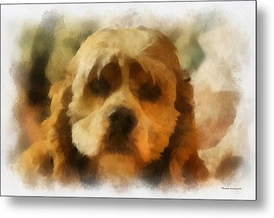 Cocker Spaniel Photo Art 03 Metal Print by Thomas Woolworth