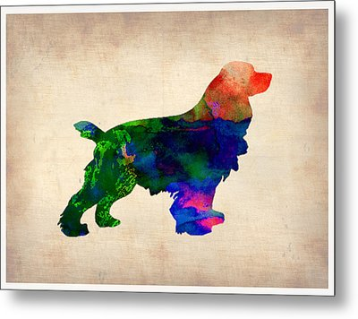 Cocker Spaniel Watercolor Metal Print by Naxart Studio